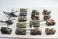 Micro Machines  Military Army 16 Vehicle Lot, Helicopter Mini Toys