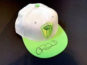 MLS Cup Seattle Sounders CRISTIAN ROLDAN Signed Hat USMNT USA Soccer Jersey Rare