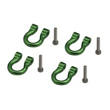 X Spede XPACC808T05 1/10 Scale Aluminum Green Tow Shackle D-Rings (4) TRX4