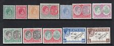 ST KITTS-NEVIS 1938 KGVI DEFINITIVE SET LIGHTLY/NEVER HINGED MINT