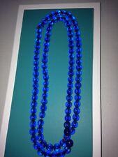 Vintage / Antique Peking Blue Glass Bead Necklace