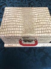 Vintage Faux Crocodile/Alligator Vanity Storage Cosmetic Whatever Case Box