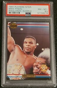 1991 RINGLORDS MIKE TYSON SAMPLE PSA 8.5 NM-MT+