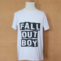 Fall Out Boy FOB Design Pattern White T-Shirt Boys Mens Graphic Tee Tops