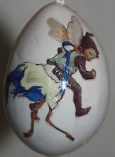gourd ornament with fairy / sprite and ostrich, emu
