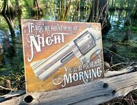 If Found Here Vintage Metal Tin Sign Wall Decor Garage Man Cave Home Under $20
