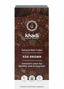 Khadi Natural Hair Color - ASH BROWN - New - 100g - Herbal Hair Colouring
