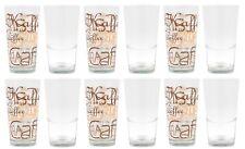 12er Set Latte Macchiato Glas 39cl stapelbar Kaffeegläser Kaffee Tee Glas Gläser