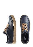 Freizeitschuhe Gr. 36 dunkelblau Schnürschuhe Damen Sneakers Schuhe
