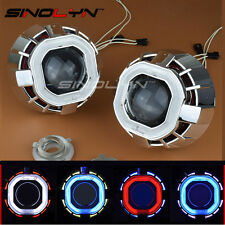 2.5 HID Bi-xenon Projector Lens Dual Angel Eyes Halo For Car Headlight Retrofit