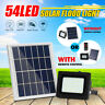 54LED Solar Powered Flood Light Outdoor Walkway Park Street Lamp+Remote Control