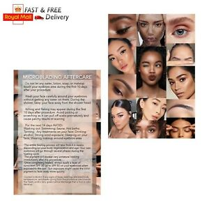 Microblading Aftercare Cards client instructions leaflet customer eyebrow card