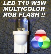 Luci Lampade LED RGB TRICOLOR T10 W5W VELOCI FLASH 12V