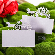 12pcs Lilac Carriage Table Name Place Cards Wedding Favour Birthday Party Decor