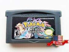 Pokemon My Ass (Parody) Custom Fan Made Hack - Gameboy Advance  GBA (USA Seller)