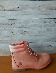 "New Women's Timberland Waterville 6"" WP Boot Medium Pink Nubuck 0A1WVV. Size:8"