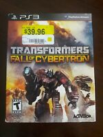 Transformers: Fall of Cybertron (Sony PlayStation 3, 2012) ¡¡ NEW !!