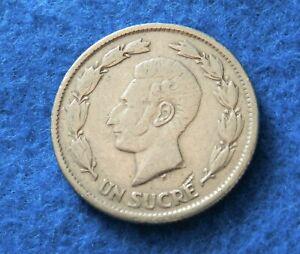 1937 Ecuador Sucre - Nice Old Coin - See PICS
