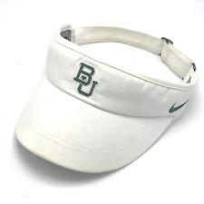 BAYLOR Bears Golf Nike Dri Fit Visor Cap Hat White NCAA Big 12