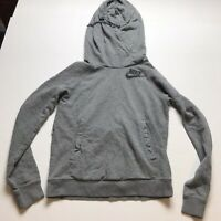 Nike Rally Funnel Neck Womens Pullover Hoodie In Gray Sz XS A1752