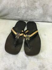 2b05e58badb8a Gucci Black Leather and Webbing Interlocking GG Thong mens Sandals Size  44-45