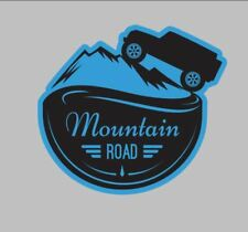 Mountain Road Bumper/Toolbox decal with jeep and mountain decal Jeep 4x4 sticker