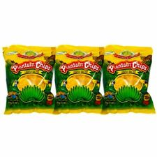 TROPICAL GOURMET PLANTAIN CHIPS LIGHTLY SALTED PATATINE DI PLATANO SALATE 85 G