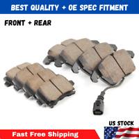 FRONT+REAR Ceramic Brake Pad Kits for 2011-16 Jeep Grand Cherokee Dodge Durango