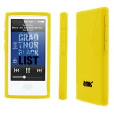 For Apple iPod Nano 7 7th Gen Flexible S-Shape TPU Gel Skin Case Cover Yellow