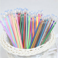48 Colors/Set Gel Pen Refills Glitter Coloring Drawing Craft Markers Stationery