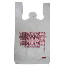 50 T-SHIRT THANK YOU PLASTIC SHOPPING GROCERY BAGS 11.5