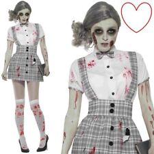 Adult Zombie School Girl Halloween Fancy Dress Costume