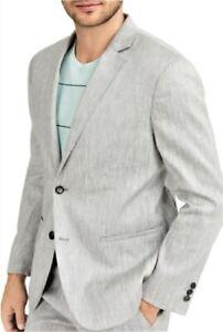Alfani Men's Light Grey Linen Classic-Fit Stretch Herringbone Sport Coat, XL