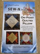 Sew- N in a Day On Point Quilted Pillow DVD New