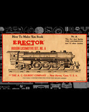 ERECTOR HUDSON LOCOMOTIVE SET A Instruction BOOK