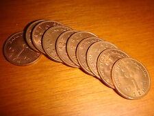 Malaysia 1992, 1 Sen (1¢) Copper Coins UNC, 10 pieces