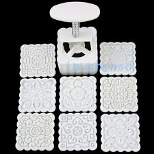 Household Moon Cake/ Pastry mold Hand Pressure 100g 1 Barrel 8 Stamps Pattern