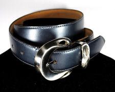 LINDA ALLARD for ELLEN TRACYWomen's Belt, BLUE, STYLIZED METAL BUCKLE, SIZE MED