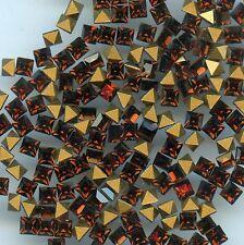 4401/3/ST*** 15 strass Swarovski carrés 3mm SMOKED TOPAZ F **** x15