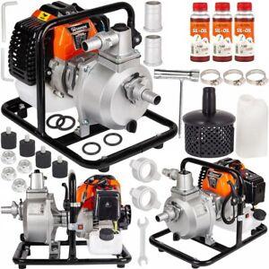 Benzin Wasserpumpe 5,2 PS Gartenpumpe 2-Takt Motorpumpe 1'' Teichpumpe B-ware