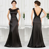 Womens Sexy Black LACE Evening Party Dress Cocktail Prom Bridesmaid Gown Dresses
