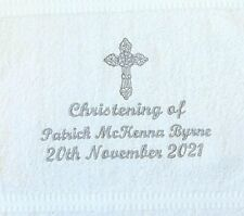 Christening Personalised Embroidered towels  Gift Christmas Birthday present