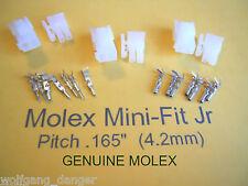 2 Circuit Wire Connector -  3 Complete Molex conn. w/Pins -   Mini-Fit Jr