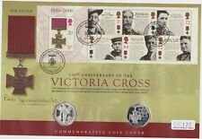 More details for 2006 victoria cross silver proof 50 pence two coin stamp cover set in folder.