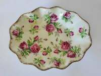 James Kent Ltd. Serving Bowl, 1940's Longton, England, Pink Roses, Butter Dish
