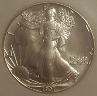 1991 American Eagle Silver Liberty Commemorative Dollar $1 - NGC graded - MS 69