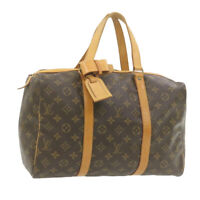 LOUIS VUITTON Monogram Sac Souple 35 Boston Bag M41626 LV Auth 21033