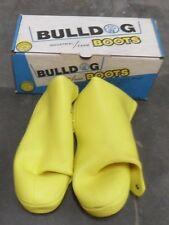 "Industrial Vinyl Bulldog Boot Over Shoes Mens 10"" SZ 14 Yellow g 927 New NIB"