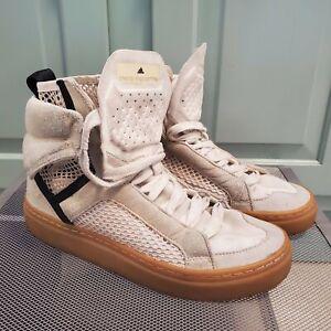 Adidas Stella McCartney Asamina Hi Top Sneaker Shoes B35186 Cream Women Size 7