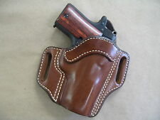 Kimber Micro 9  9mm OWB Leather 2 Slot Molded Pancake Belt Holster CCW TAN RH